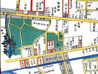 十二社-江戸切絵図