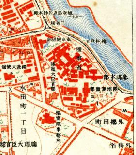 1:10000地形図「四谷」(明治42年測図・大正10年第二回修正測図。大日本陸地測量部)の一部