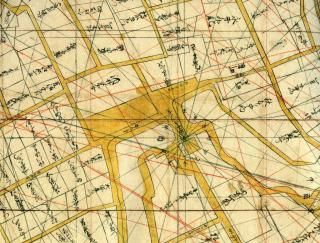万治年間江戸測量図