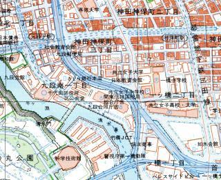 1万分の1地形図「日本橋」の一部(平成11年)