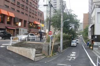 奥が東京ミッドタウン、手前左が国立新美術館、右手が東南となる
